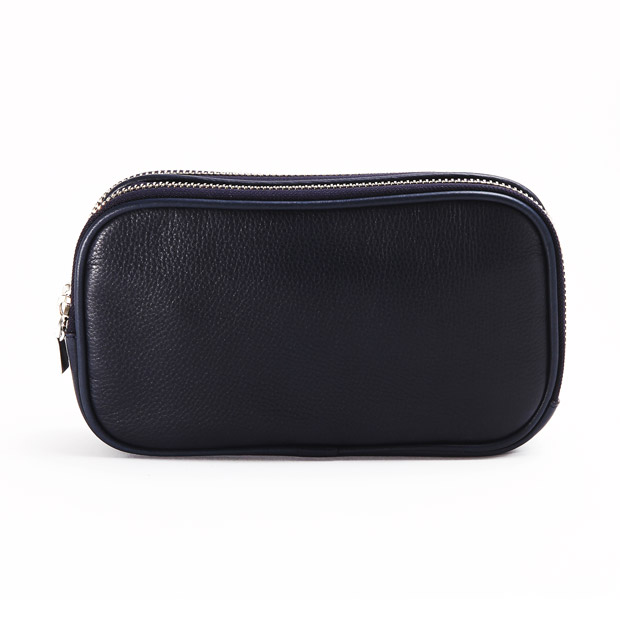 aniaryアニアリ  ダブルジップ クラッチバッグ Shrink Leather Clutch ANIARY 07-08000