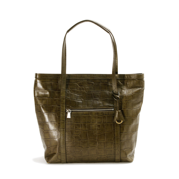 aniaryアニアリ トートバッグ 型押し クロコダイル Double Embossed Leather Tote aniary 12-02001