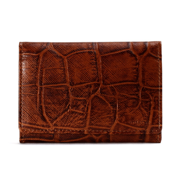 aniaryアニアリ 名刺入れ カードケース 型押し クロコダイル Double Embossed Leather Card case ANIARY 12-20004
