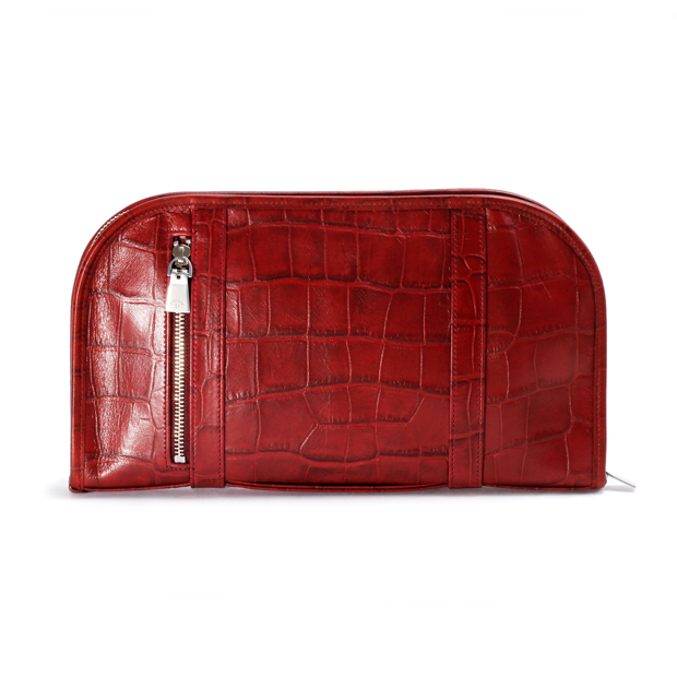 aniaryアニアリ クラッチバッグ 型押し クロコダイル Double Embossed Leather Clutch aniary 12-08000