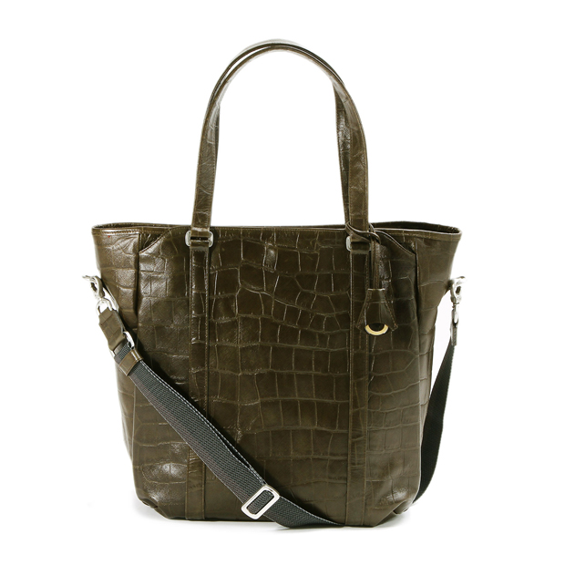 aniaryアニアリ 2WAY トートバッグ 型押し クロコダイル Double Embossed Leather 2WAY Tote aniary 12-02002
