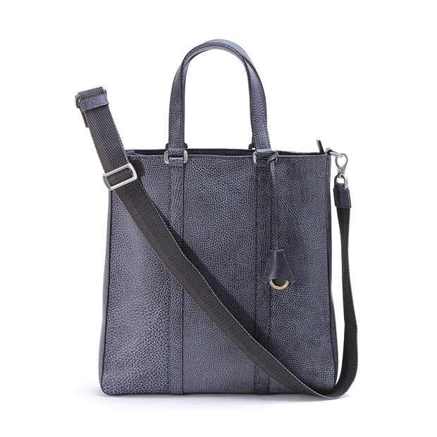 aniaryアニアリ 2WAYトート ショルダーバッグ Grind Leather 2WAY Tote Bag ANIARY 15-02005 BlackWhite