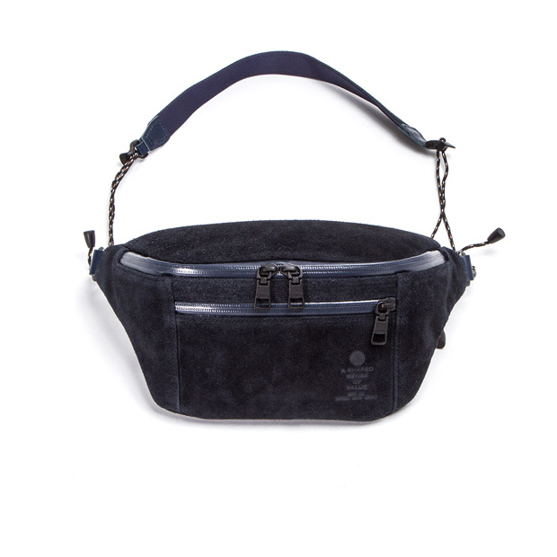 AS2OVアッソブ ウェータープルーフ スウェード ファニーパック ボディバッグ WATER PROOF SUEDE FANNY PACK AS2OV 091752